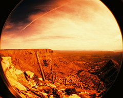 Mars, once (kevin dooley) Tags: 2 arizona mars mountain southwest film home analog lens landscape am lomo xpro lomography crossprocessed im desert angle kodak central wide free az super fisheye plastic round vista once 100 rim vignette extra martian mogollonrim longago kodakebx100 fisheye2 mogollon martianlandscape ebx homefree anicent tempecamera imhomefree iamhomefree areyounowhomefree