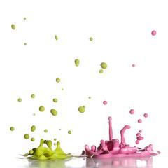 Green & Pink (Morphicx) Tags: pink blur green studio droplets drops paint action bokeh drop 100mm droplet 5d splash strobe strobist nostrobistinfo removedfromstrobistpool seerule2