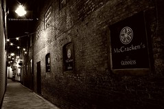 The Entry (TBSteve) Tags: ireland sepia night dark lights pub belfast guinness newsletter entry 1798 mccrackens unitedirishmen henryjoymccracken