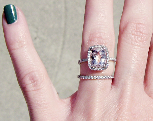 engagement ring with pink stone pave diamonds 10
