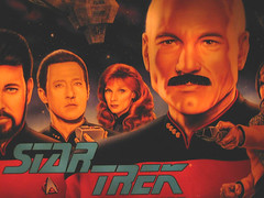 Oh Picard, You Dirty Dog (Johnny Grim) Tags: startrek moustache nextgeneration pinball data captainpicard foundinsf jeanlucpicard riker startrektng gwsf