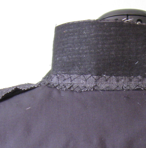 Jacket collar inside