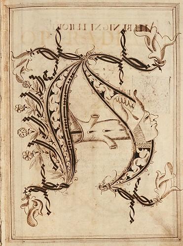 001-Opera dianto nella quale vedrete molte caratteri di lettere - Antonio Schiratti – 1600-1615