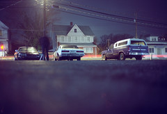 (patrickjoust) Tags: auto road street old city light urban usa color belair film car night analog america truck 35mm dark lens ed us md nikon focus automobile long exposure kodak scanner united picture patrick maryland pickup ground rangefinder olympus baltimore v 100uc dodge after states jaguar manual xa taking ram streaks asphalt joust range finder ultra zuiko f28 compact selftimer caprice estados c41 unidos boyghost autaut patrickjoust
