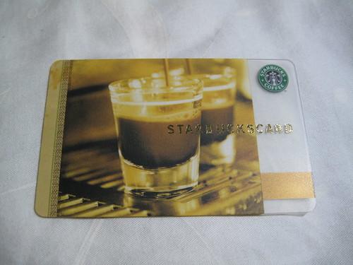日本星巴克 雙份濃縮卡