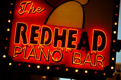 The Redhead Piano Bar, Plate 5 (Thomas Hawk) Tags: usa chicago bar illinois neon unitedstates 10 unitedstatesofamerica redhead pianobar chicagoland windycity fav10 redheadpianobar