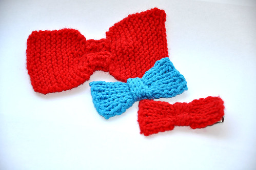 Knitted Bow Pattern : Not-So-Itty-Bitty Bow Pattern Untangling Knots