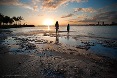 A Sisterly Bond (Rex Maximilian) Tags: ocean sunset sun sisters boats hawaii waikiki oahu tropical tropic honolulu alamoanabeachpark wwwrexmaximiliancom