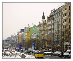 Colourful Wenceslas (paulmcdee) Tags: travel winter snow cold architecture canon buildings square europe republic colours czech prague 5photosaday eos450d topqualityimagesonly weceslas
