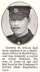 bolas_alfred_b (GWR Casualties Project) Tags: world project one war great swindon bolas casualties 1916 gwr