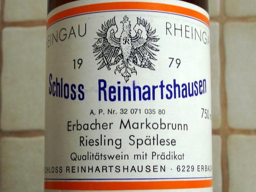 1979 Erbacher Markobrunn Riesling Spätlese, Schloss Reinhartshausen #2