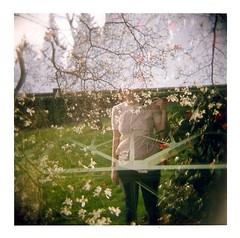cathedral park (erin l holcomb) Tags: flowers trees mediumformat portland holga 120film miranda angelic multipleexposures stjohnsbridge