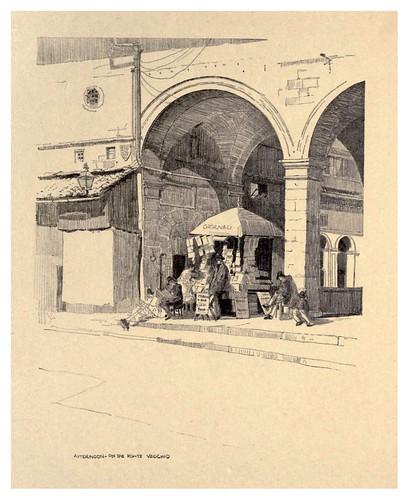 008-Por la tarde en el Puente Vecchio-Florence  a sketch book (1914)- Richards Fred