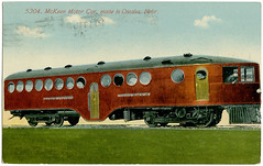 McKeen Motor Car_1914_tatteredandlost (T and L basement) Tags: ephemera vintagepostcard traincar trainpostcard mckeenmotorcarcompany