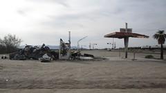Gas Station Ruins, Rice, California (El Payo) Tags: california rice ca62