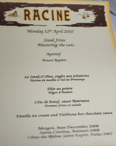Steak Frites Tasting at Racine