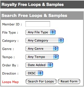 Free Loops Beats Samples Sounds FX for garageband, magix, reason, fruity loops, ableton, pro tools