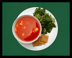 Tomato Soup w/Tortellini, Ceasar Salad, Crackers (Vision Images) Tags: columbus ohio food beautiful cheese canon tomato photography rebel soup book salad cook advertisement delicious grilled product crackers xsi tasy 450d visionimages mriehle1