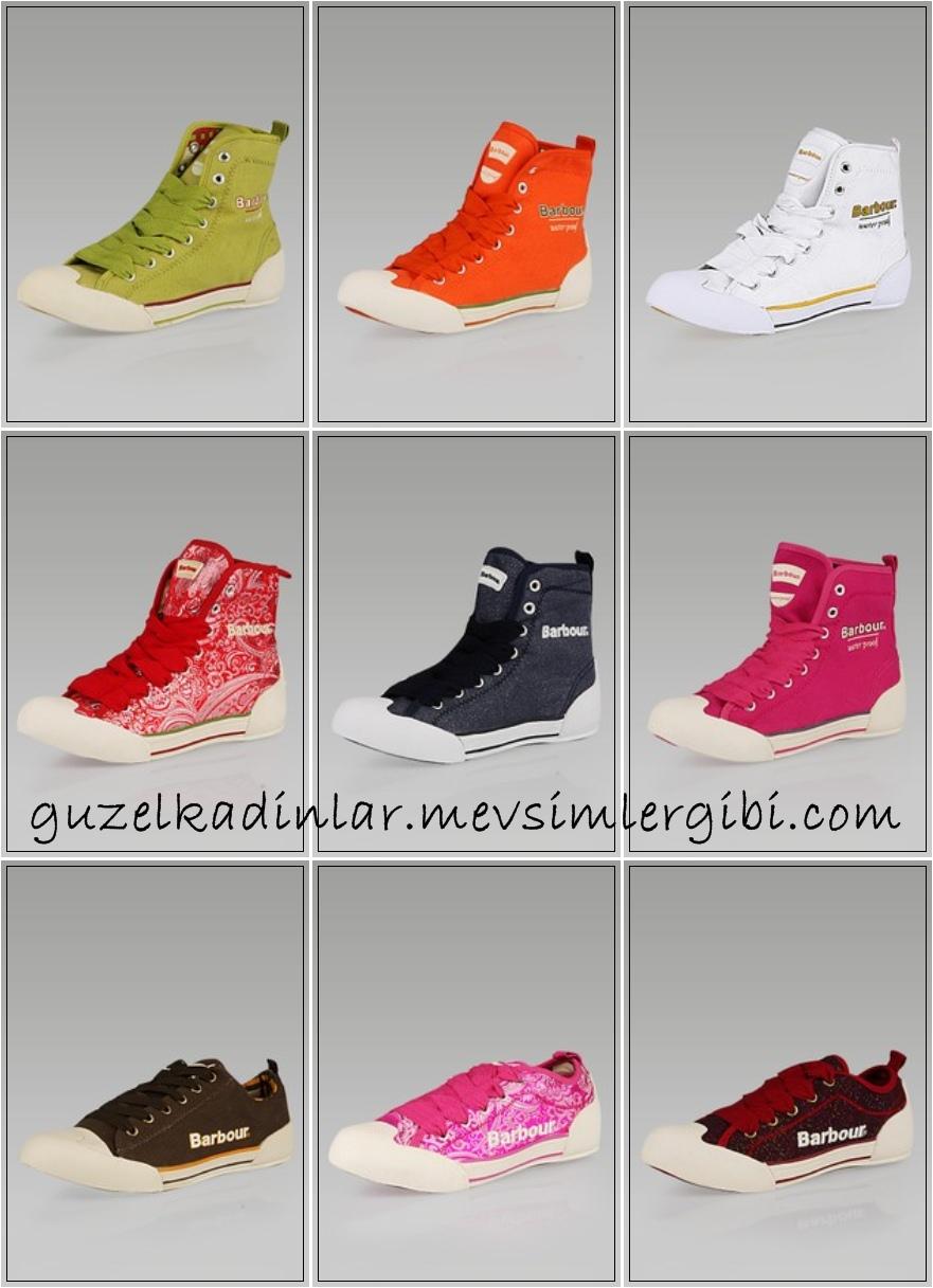barbour 2010 ayakkabı bot modelleri barbour spor günlük ayakkabılar kanvas ayakkabı modelleri