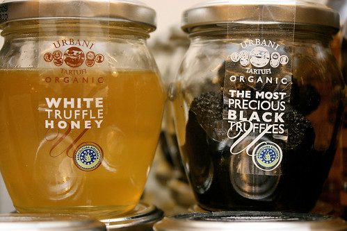 Organic truffle treasures in a jar
