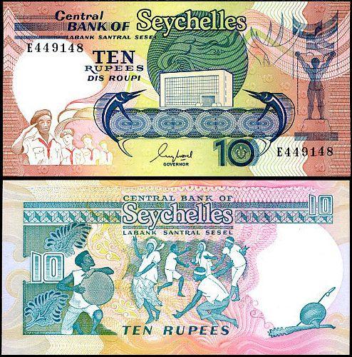 10 Rupií Seychely 1989, P 32