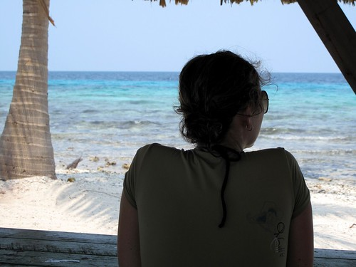 Nicole taking it all in - Laughing Bird Caye