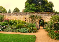 English Garden! (springblossom3) Tags: garden oxford botanical plants flowers nature wall gate architecture tourism students colleges college magdalene history