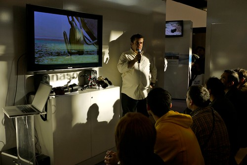 Mini conférence stand Panasonic Salon de la Photo 2009