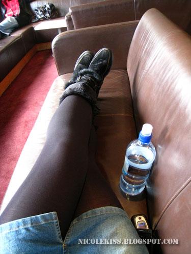 lounging around