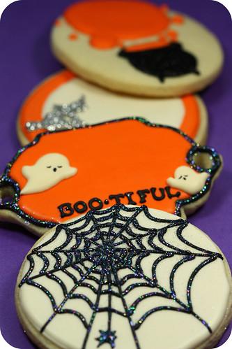 Halloween decorated cookies
