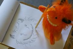 Self Portrait (tim ellis) Tags: uk selfportrait art monster puppet drawing portraiture photofriday twycrosszoo enrichment msh1215 msh0614 tza helixclone alkoth hc0310 hc03104 msh06141 msh12157