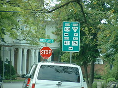 Only Franklin can be this confusing (riffsyphon1024) Tags: west franklin tn tennessee south north 5thavenue stopsign madness directions roadsign shield arrow ontheroad confusing greensign rightarrow leftarrow uparrow williamsoncounty us431 tn96 tn246