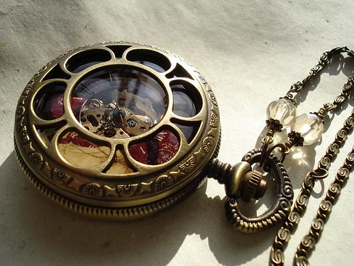 Art nouveau Pocket watch Necklace