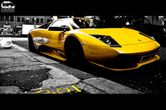 Lamborghini Murcielago LP640 (Murphy Photography) Tags: lighting street england london yellow speed photoshop fantastic hp power energie 4 harrods lp gb cs kontrast lamborghini supercar rar londen skill murcielago v12 640