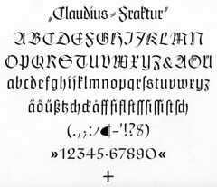 Claudius Fraktur Type Specimen