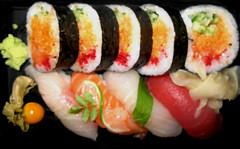 Sushi dinner with kamikaze rolls:) (igo2cairo) Tags: sushi rolls kamikaze sushidinner sushimarche