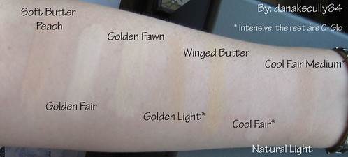 Swatches - Golden, Warm, Cool Foundations