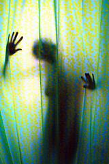 (juan terol) Tags: españa flores color textura cortina valencia vertical mujer sombra ducha silueta baño bao forma espaa
