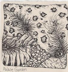 Traded-Palace Garden (molossus, who says Life Imitates Doodles) Tags: tile zentangle zendoodle zentangleinspiredart