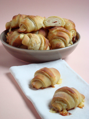 Ham and cheese express croissant