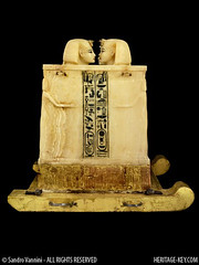 Tutankhamun's Canopic Chest (Sandro Vannini) Tags: art photography egypt viscera tutankhamun mummification alabaster beliefs egyptians egyptianmuseum cairomuseum kv62 canopicjars heritagekey sandrovannini canopicchest humanheadedstoppers