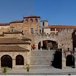Cáceres: alzado oeste a plaza mayor