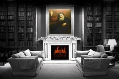 By The Fireside (Canonshot Mole) Tags: christmas love painting fire library room special