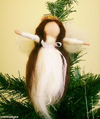 angel brownhair (creationsbyeve) Tags: christmas angel holidays europe felting handmade crafts decoration felt greece homemade ornament handcrafted etsy artisan crafting needlefelt handfelted handmadegifts handcraftedgifts europeanstreetteam creationsbyeve etsygreekteam