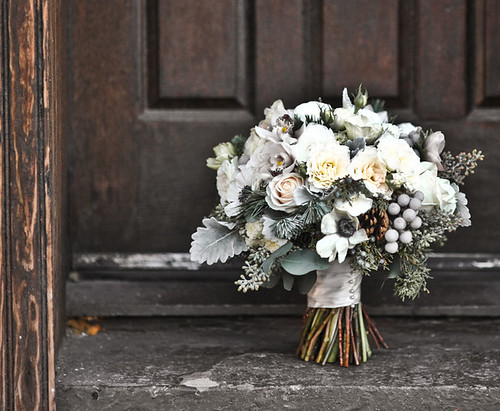 I seriously LOVE this bouquet for a winter wedding Flowers