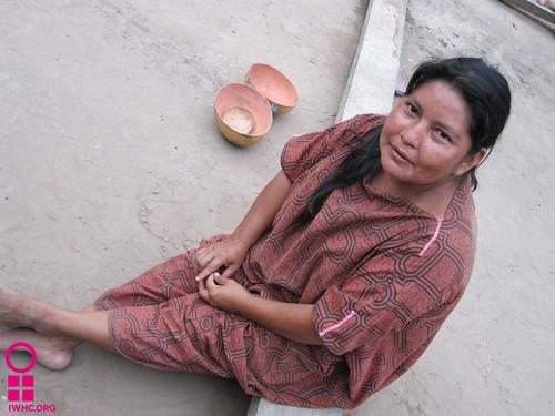 Maria, community health promoter in rural Peru