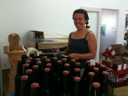 Sara - bottling like a fiend