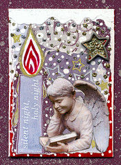 Silent Nite atc (Aimeslee) Tags: christmas winter art atc artisttradingcard collage angel holidays candle