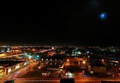 Evening Moon (Witty nickname) Tags: longexposure urban moon calgary night evening tokina alberta talismancentre eveningmoon nikond80 tokina1116mmf28