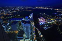 Minato Mirai at night 2 (Spice  Trying to Catch Up!) Tags: road blue light shadow sea sky urban black color reflection art japan night canon buildings geotagged photography eos interesting asia flickr cityscape colours nightshot image picture vivid blogger livejournal explore collections  yokohama vox minatomirai   landmarktower  attraction gettyimages facebook  friendster multiply       kanagawaken twitter  ferrizwheel colorphotoaward  canoneos7d twitpic panoramafotogrfico 69floor theoriginalgoldseal